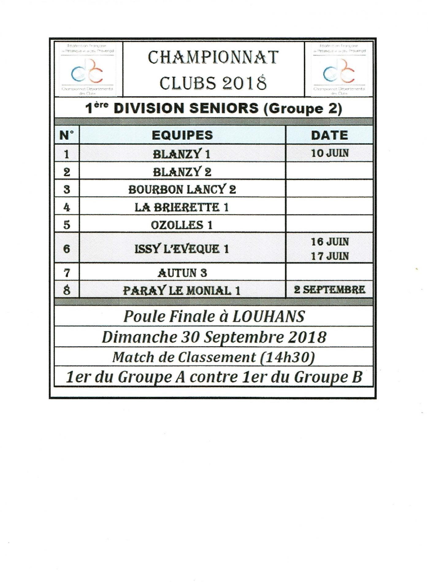 1ere division seniors g2