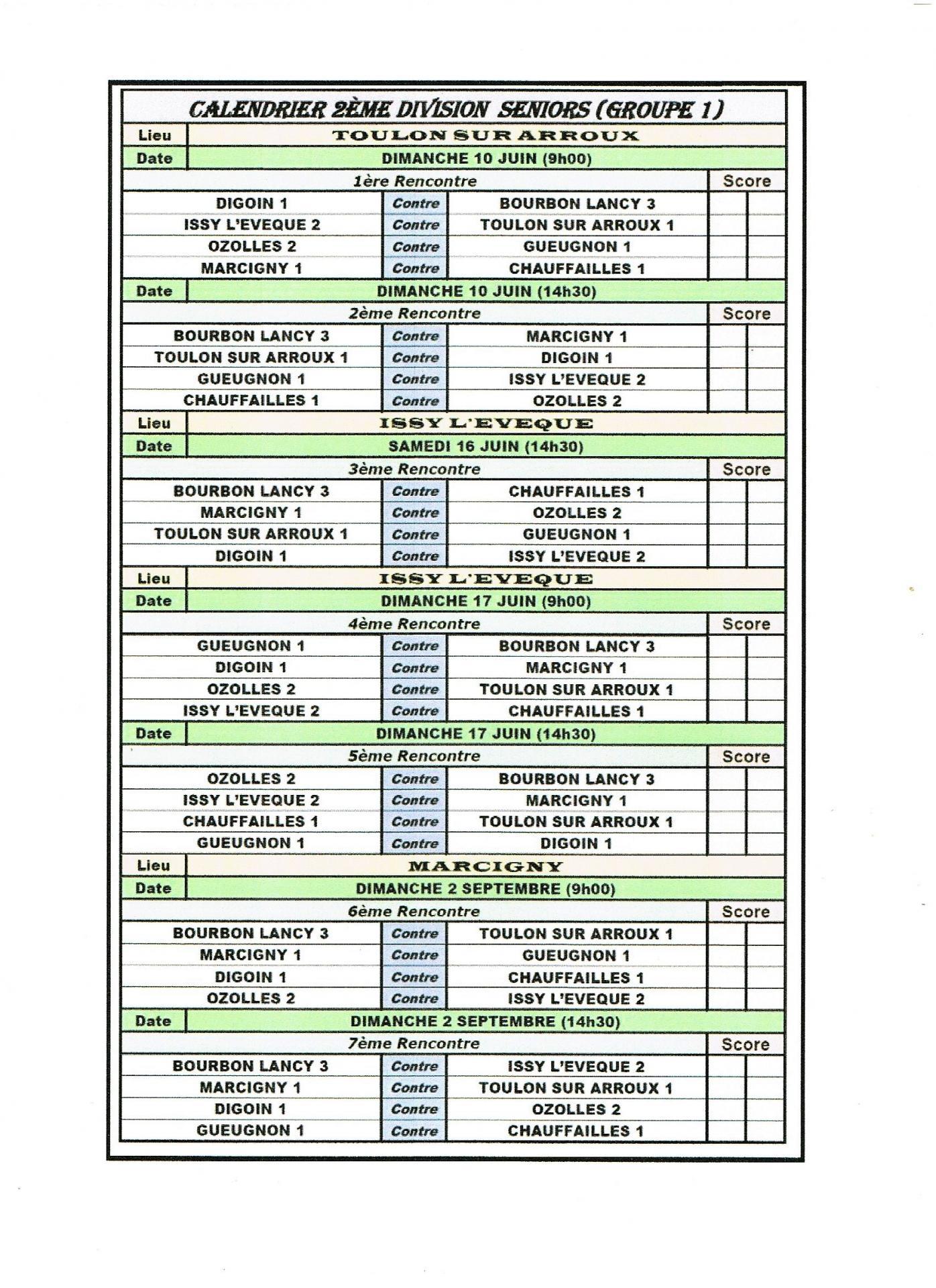 2eme division seniors g1 detail