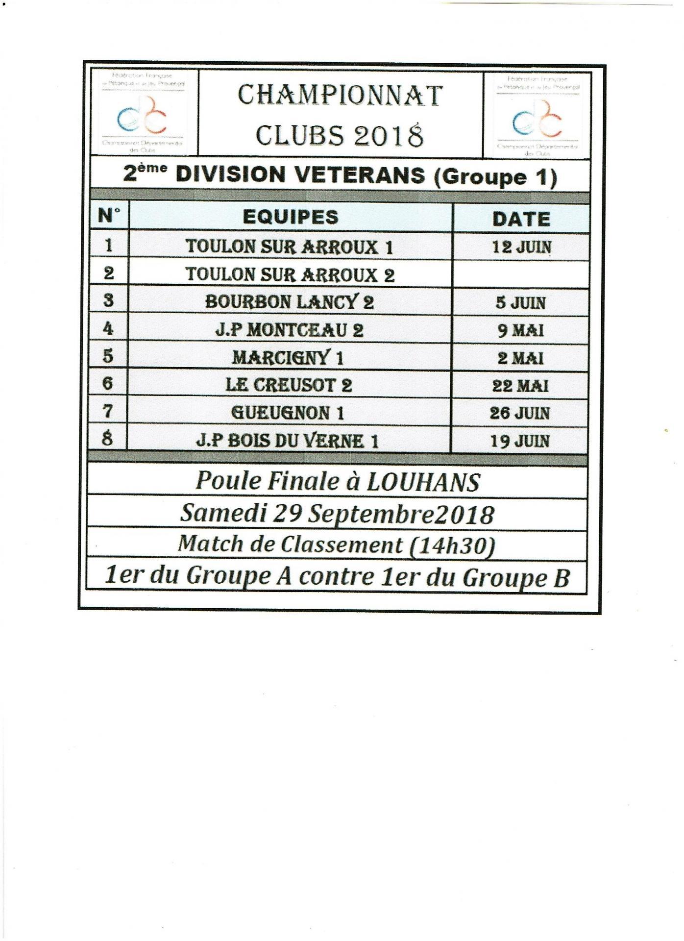 2eme division veterans g1