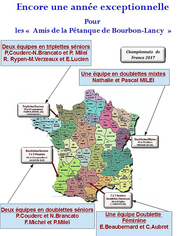 Carte des championnats bourbon 2