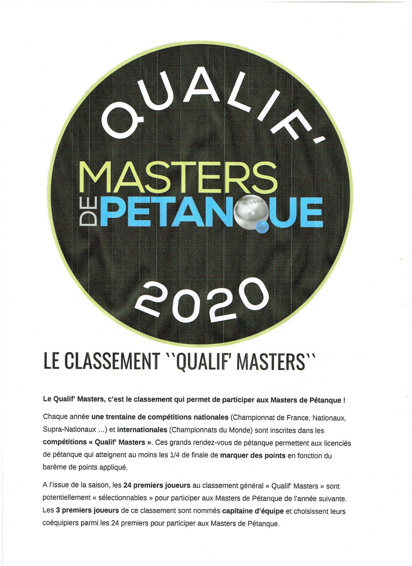 Qualif master 2020 e
