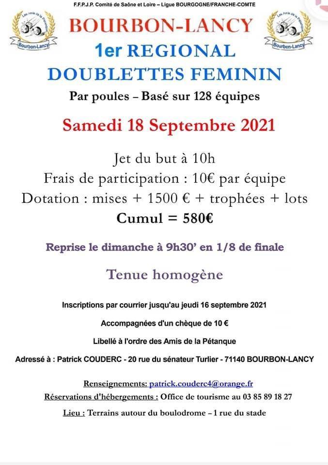 Regional doublettes feminin 2021