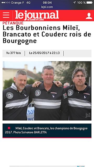 Triplette ligue 2017